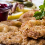 Quadrat-Speisen-Schnitzel