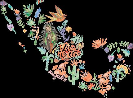Mexico Blumen Karte
